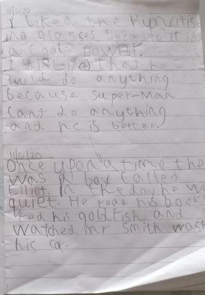 Huey writing